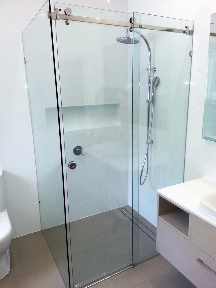 Frameless Sliding Shower Panels
