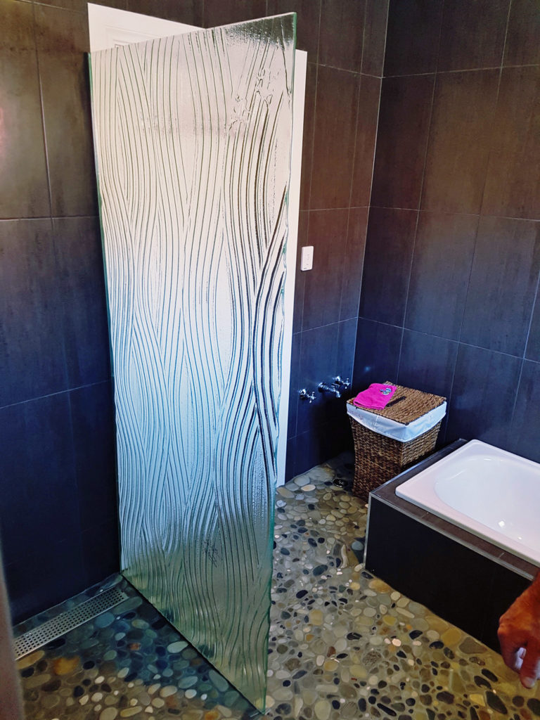 Slumped Glass Shower Panels