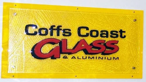 Coffs Slumped Glass Signs
